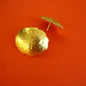 Silber und Gold ovale Barock Ohrstecker
