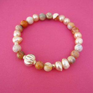 Armband Perlen rosa