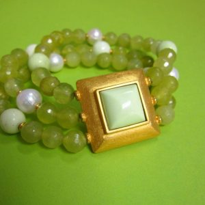 Grünes 3-fach Achat-Armband