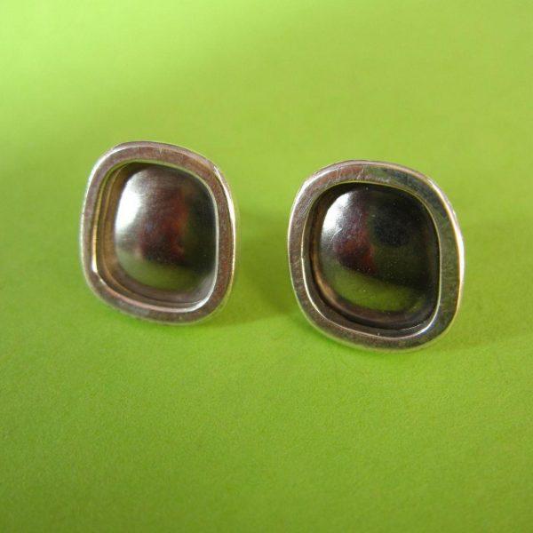 Ohrstecker 14mm Palladium Silber Rand