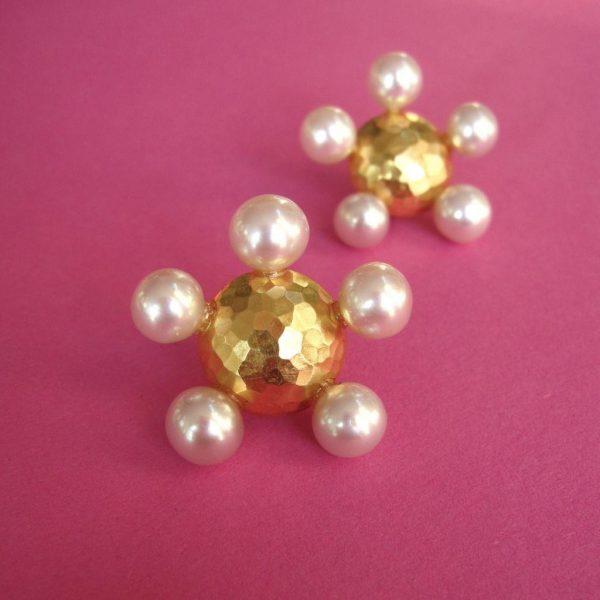 Prinzessin Ohrstecker rose Perlen