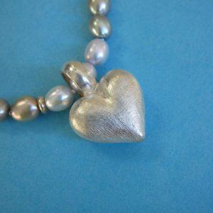 Kleiner Sterling Silber Herzanhänger
