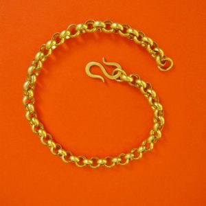 Große vergoldete Erbskette