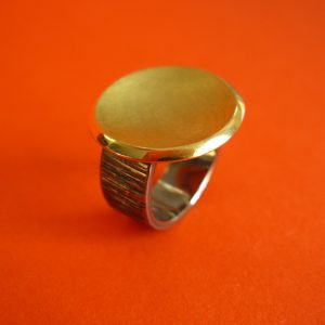 Palladium Gold Ring
