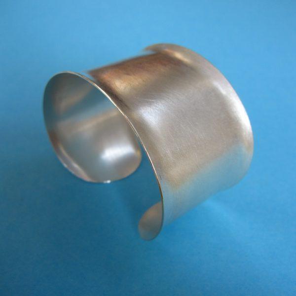 Breite Silber Armspange