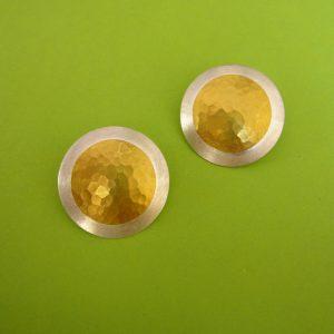 Runde Clips Silber Gold Punkt