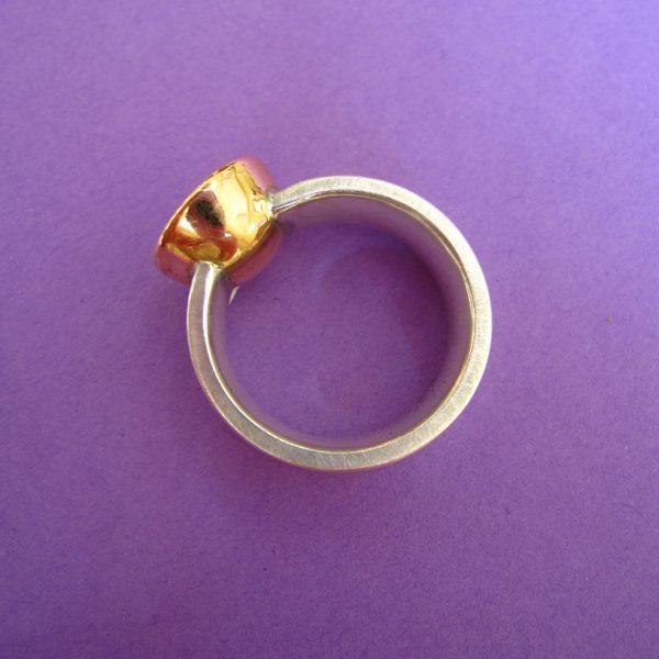 Silber Goldring Detail