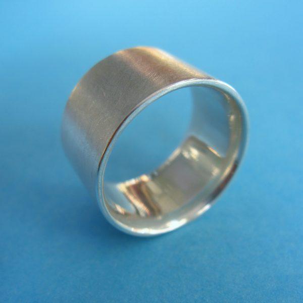 Breiter Sterling Silber Ring Modern