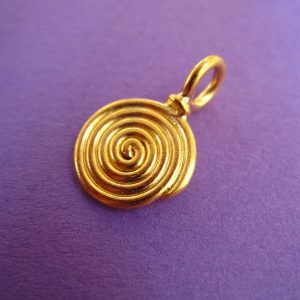 Kleine Spirale Anhänger vergoldet