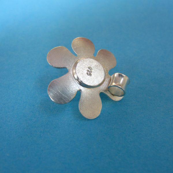 Blume Silber Anhänger mit Perle