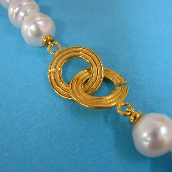 Perlencollier Verschluß