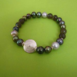 Atlantik Armband Perlen und Labradorit