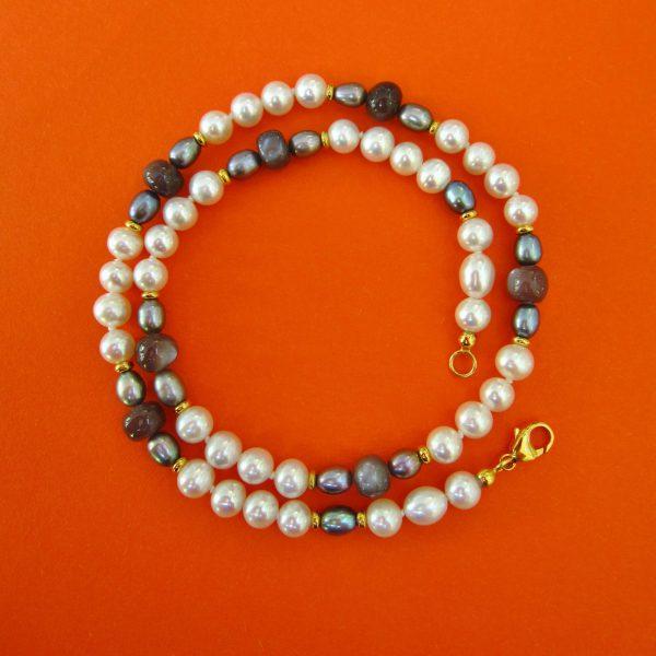 Mocca Mondstein Perlenkette