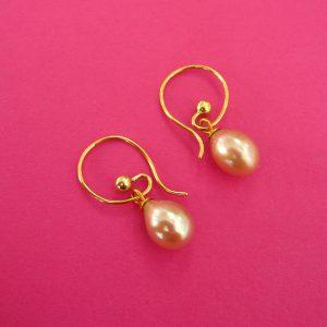 Wechselbügel mit rosa Perlen