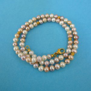 Zarte Perlenkette mulitcolour