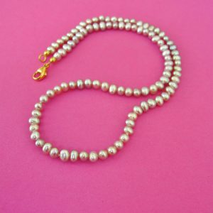zarte rosa Perlenkette, top Lüster