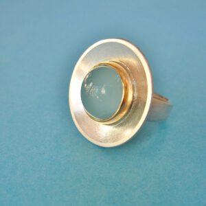 Großer runder Aquamarin Ring