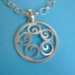 Silber Spiralen Anhänger