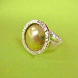 Sonnen Ring in Silber und Gold